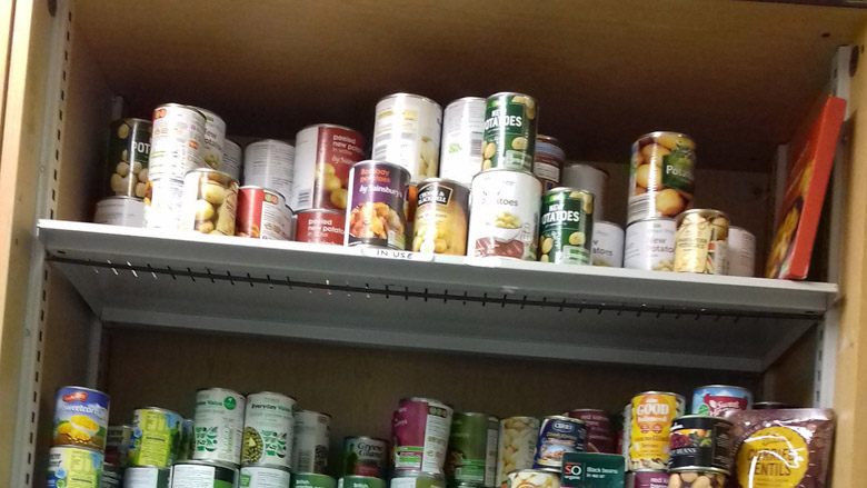 Volunteer turns to own foodbank after UC error