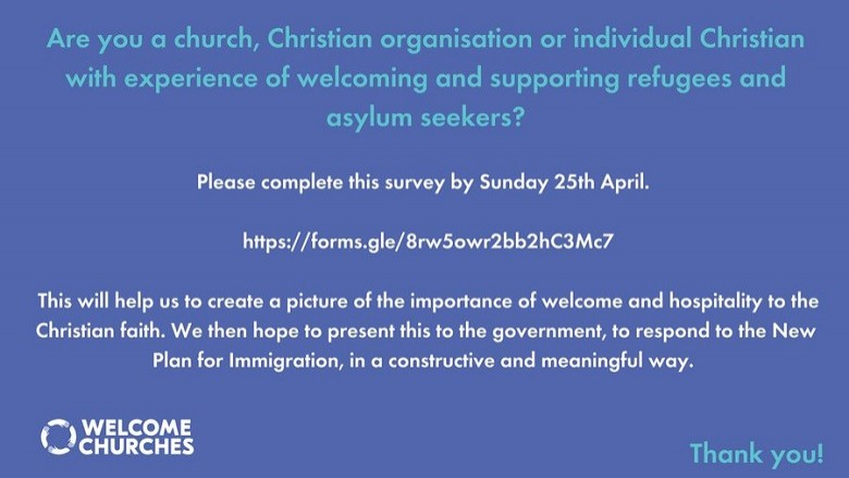 Welcome Churches need your help...